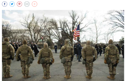 Video of National Guard Troops in DC Shows Protocol, Not Protest
