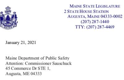 Maine GOP letter to Mike Sauschuck 1.21.2021
